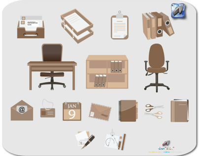 Office Flat Icon Design