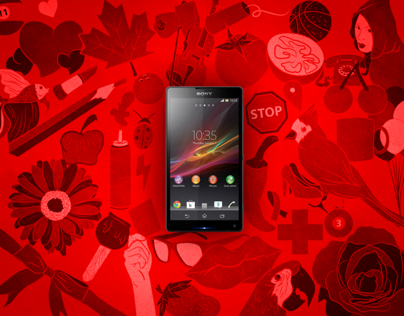 Sony Xperia ZQ red