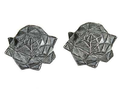 ORIGAMI peony earrings