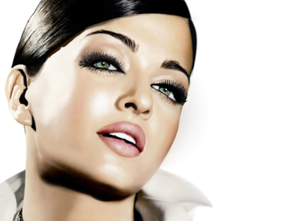 Aishwarya Rai Digital Painting
