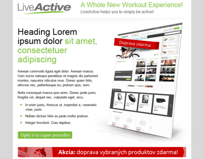 LiveActive newsletter design