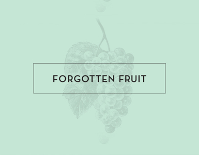 Forgotten Fruit: Design for Good