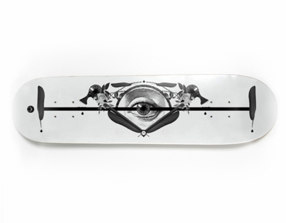 Skate / Longboard Collage design - The Eye