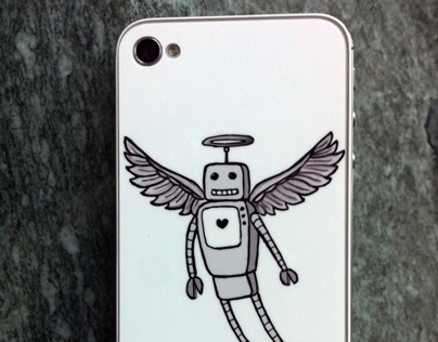 iPhone skin - AngelBot