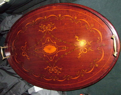 Restoration of Victorian Marquetry Tray