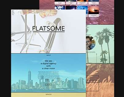 Flatsome - One Page Muse Theme