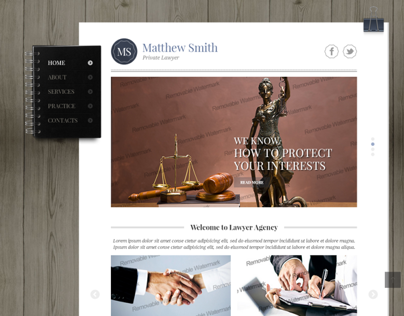 Matthew Smith Private Lawyer Bootstrap HTML Template