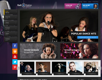 Greatest Hits Radio Station Bootstrap HTML Template