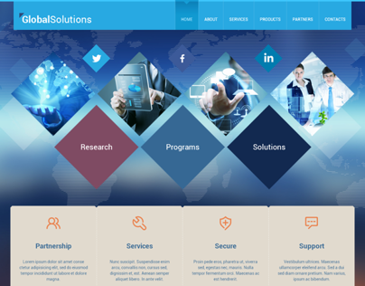 Global Solutions Start With Us Bootstrap HTML Template