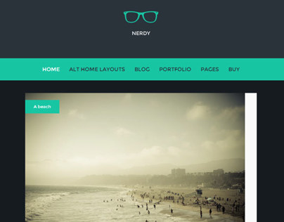 Nerdy WordPress Theme