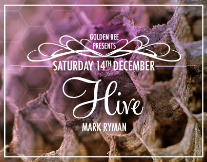 Golden Bee London Events // Flyers