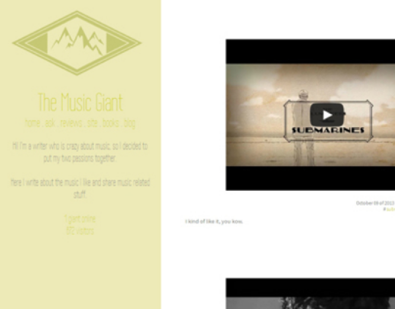 The Music Giant Tumblr Theme
