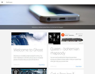 Kathreen Responsive Ghost theme