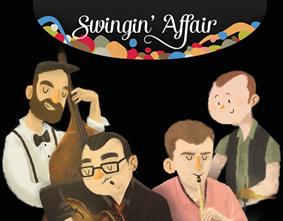 Swingin' Affair CD Artwork & Branding