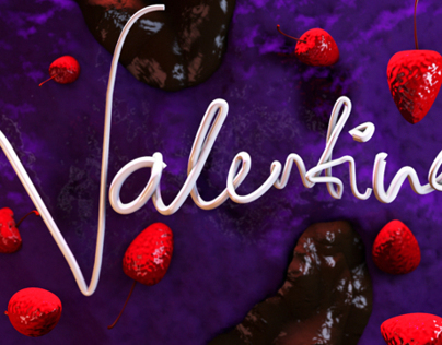Valentine Cake House Wallpaper