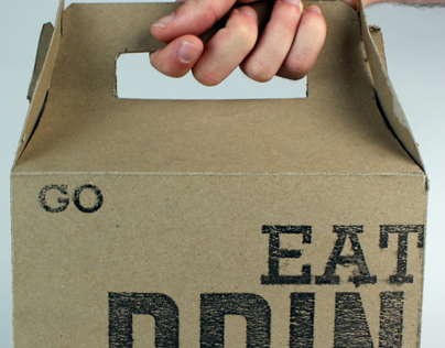 Eat, Drink, Go: A Typographic Food Carrier