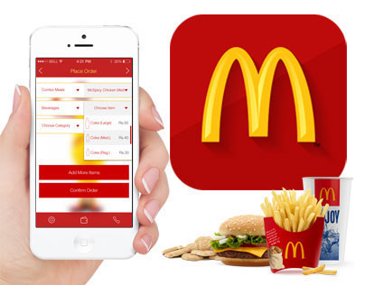 McApp - An iOS 7 app for McDonald's