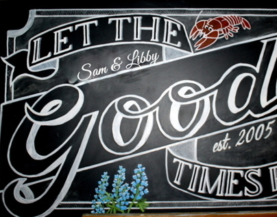Chalkboard Let the Goode Times Roll