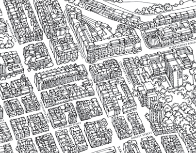 Birds Eye View Illustrated Maps of London