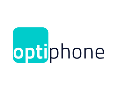 Optiphone corporate design.