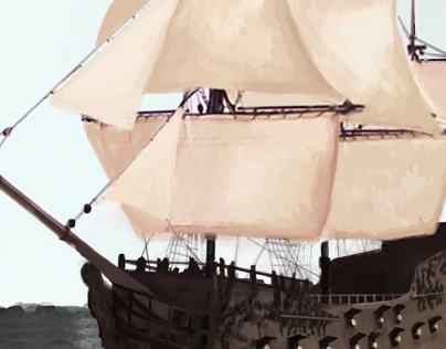 Pirates of the Caribbean: Captain Teague's ship