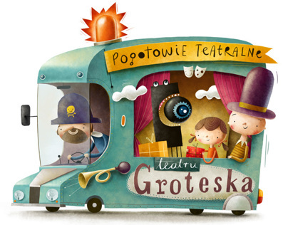 Illustration for Groteska Theatre