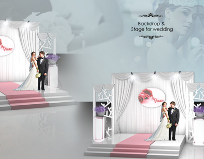 EXHIBITION DESIGN //Backdrop &  Stage for wedding
