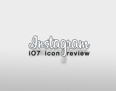 Instagram icon review iOs7