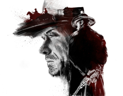 Art print for a movie Unforgiven.