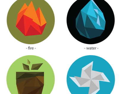 The four elements polygon design