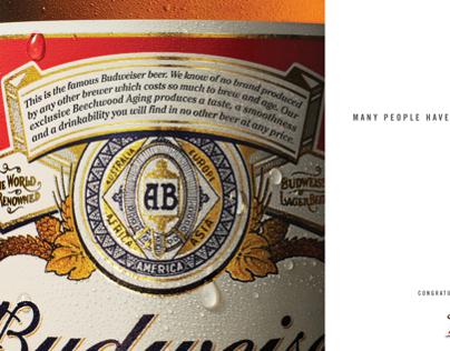 Budweiser Playboy 60th Anniversary Ad