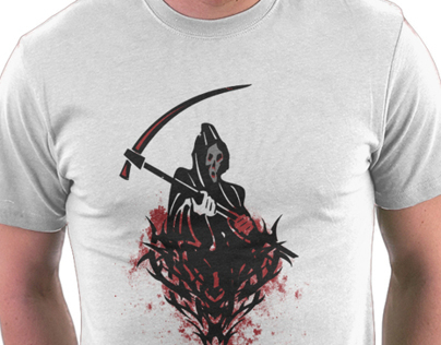 Death and Blood Tribal Prints T-Shirt and Sticker