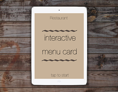 Interactive Menu Card 2014