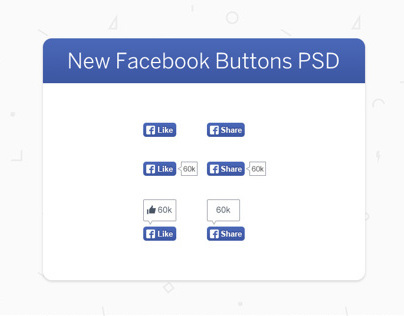 New Facebook Buttons Freebie