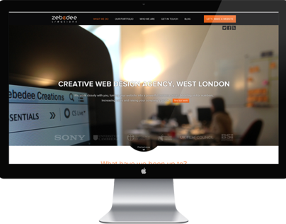 Zebedee Creations website design / frontend development