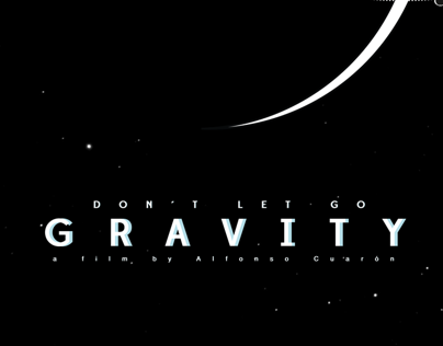 GRAVITY MINIMAL MOVIE POSTER