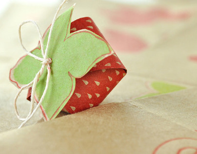 Letterpressed Strawberries