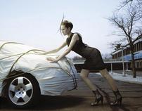 Chris Kolk Fashion Story Inspired by Christo