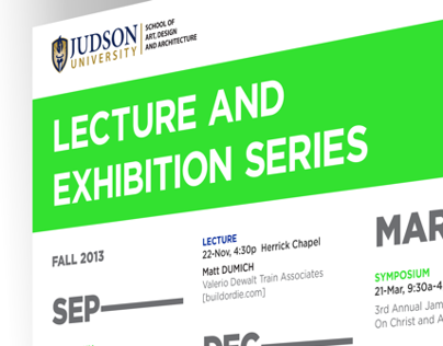 Lecture and Exhibition Series poster