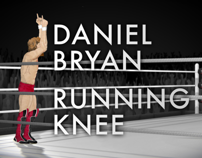 WWE Daniel Bryan running knee animation