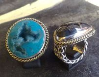 Sterling Silver Rings with Indonesian Drusy