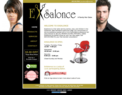 ExSalonce Website