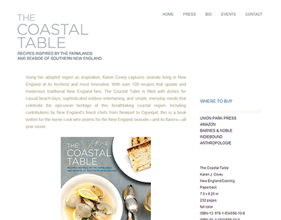 The Coastal Table Website