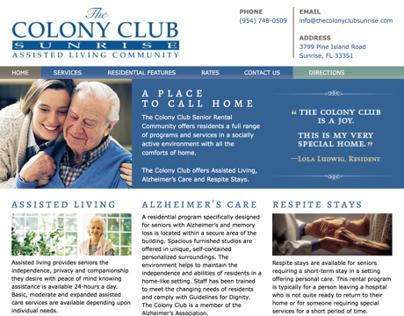 The Colony Club Sunrise Website