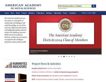 American Academy of Arts & Sciences Website