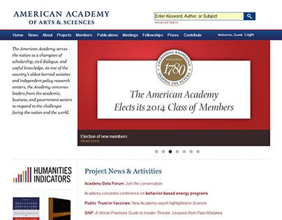 American Academy of Arts & Sciences Website