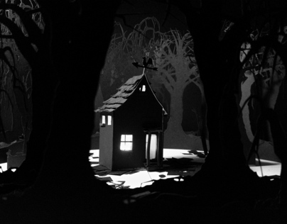 Haunted House in a Dark Forest