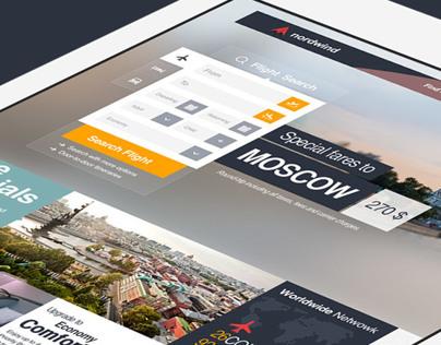 Nordwind Airlines Brand & UI/UX Consept Design