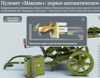 Infographics about the legendary Maxim machine gun