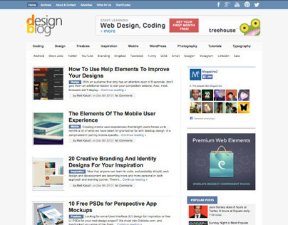 DesignBlog WordPress Web Designers Magazine Theme